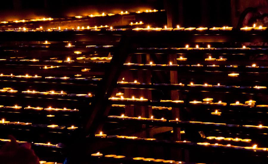 Candle Photograph - Burning Candles by Viacheslav Savitskiy