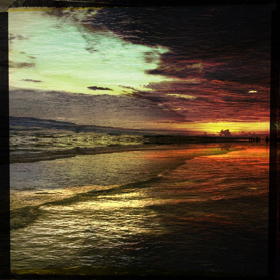 Siesta Key Photograph - Burning Night On Siesta Key II by Alison Maddex