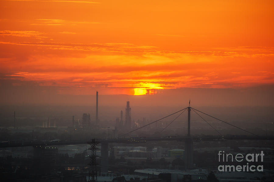 Burning Sunset II by Ray Warren
