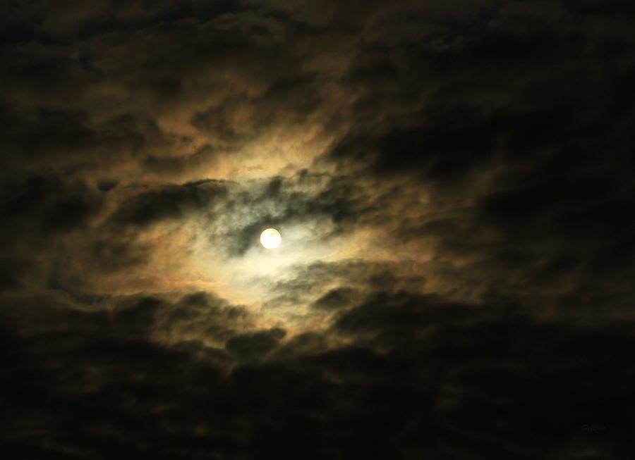 Clouds Photograph - Burning Through by Deborah  Crew-Johnson