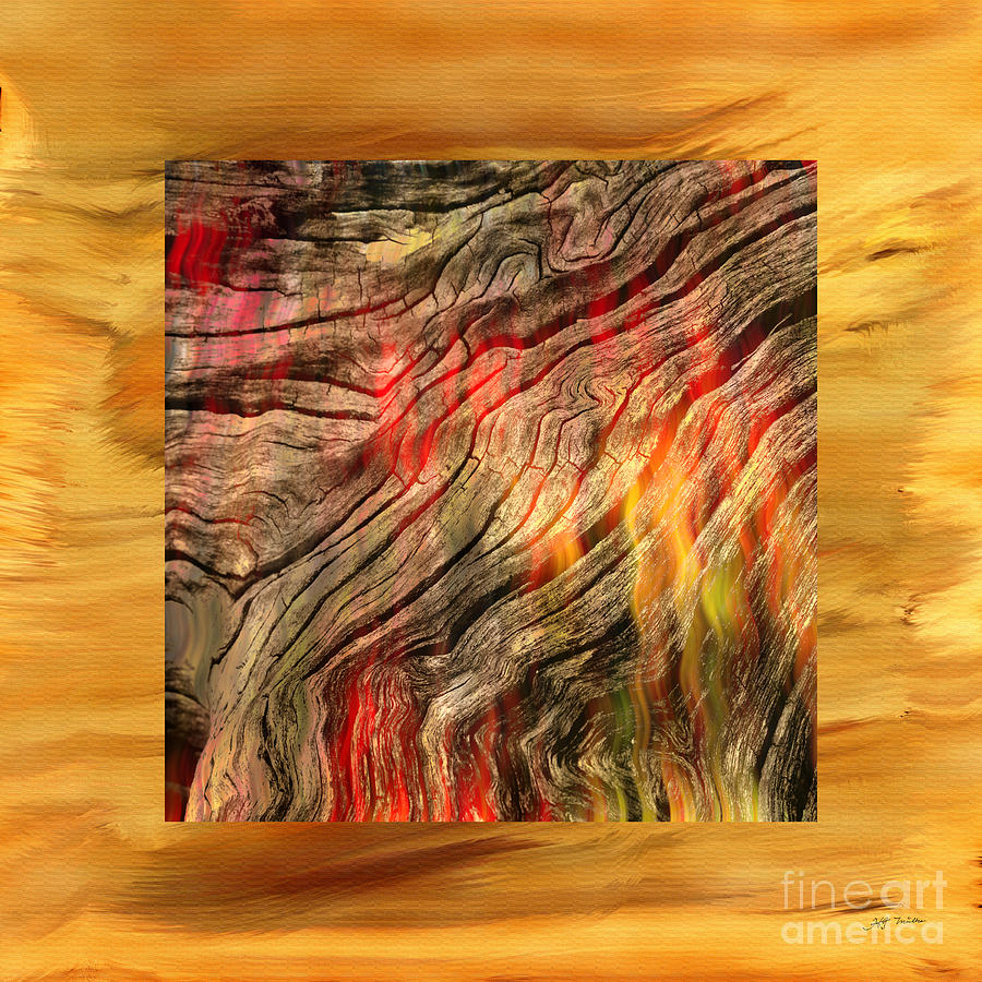 Burning Wood Abstract Photograph