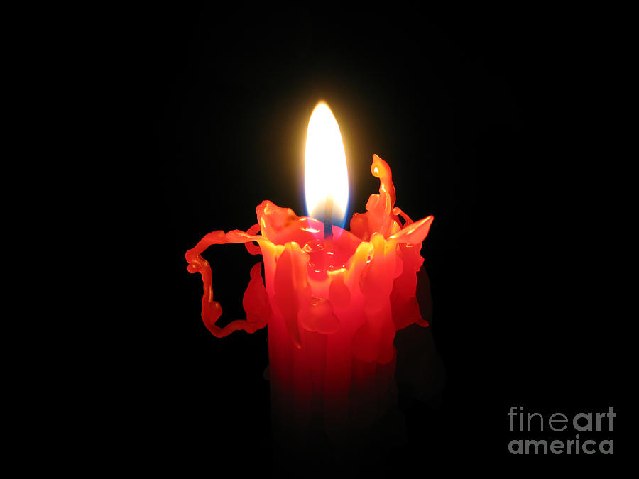 Candle Photograph - Burnout by Ann Horn