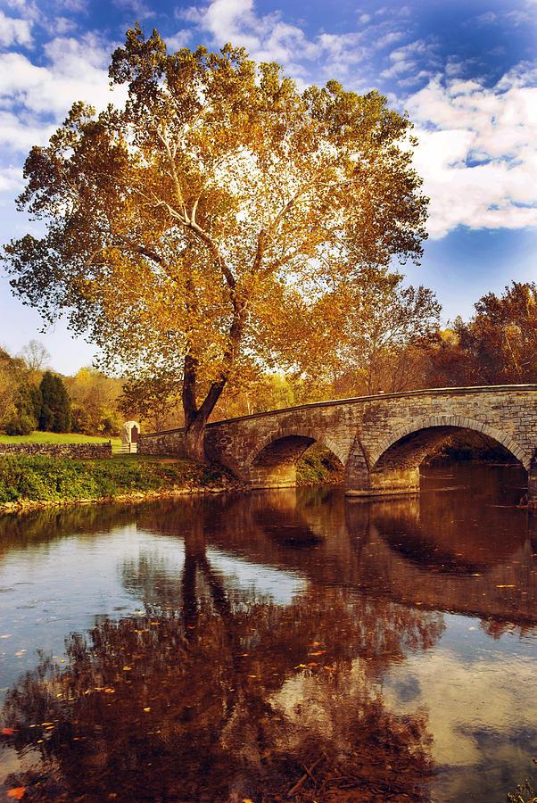 Civil War Photograph - Burnside Bridge At Autumn Sunset by Paul W Faust -  Impressions of Light