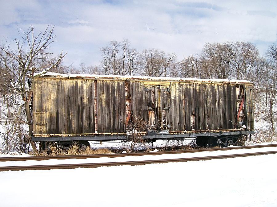 Train Photograph - Burnt by Sara  Raber