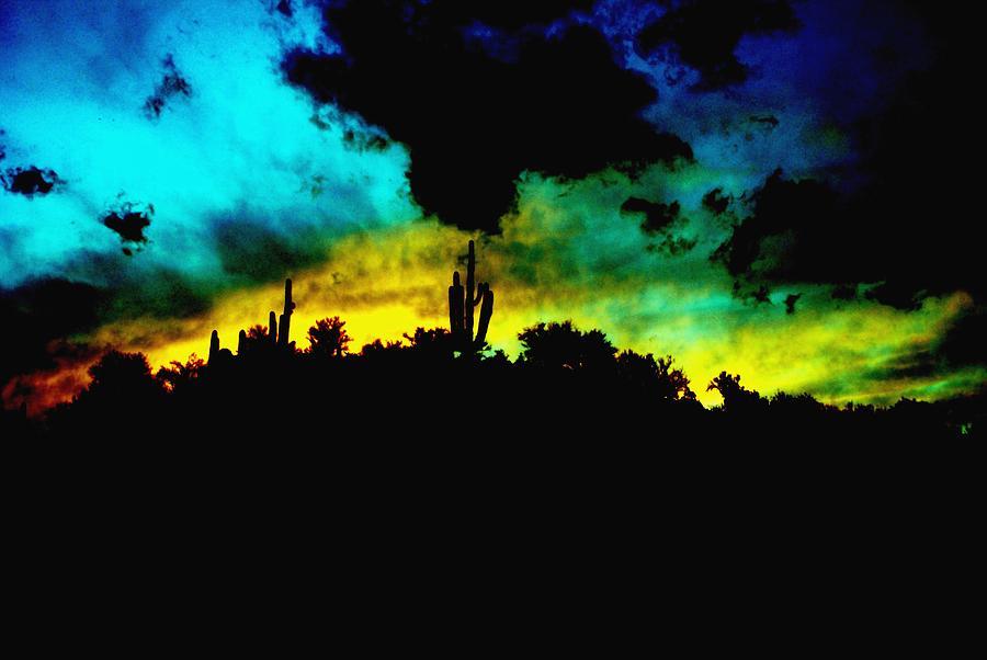 Desert Photograph - Burro Sunset Abstract by Alfredo Martinez