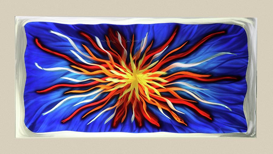 Abstract Sculpture - Burst Of Color by Rick Roth