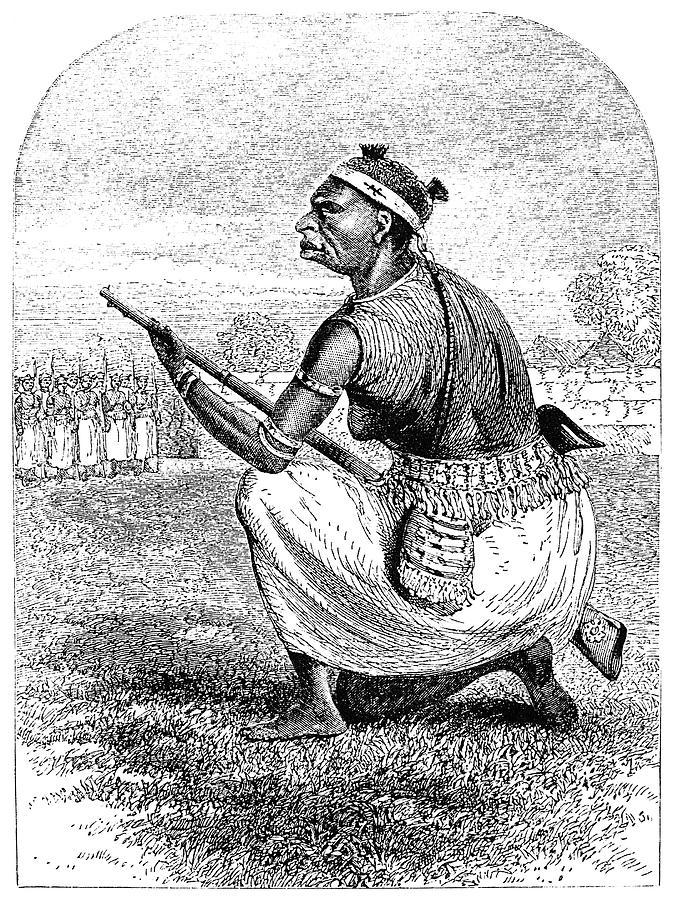 1864 Drawing - Burton Amazon Soldier by Granger