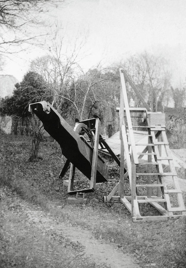 Scaffolding Photograph - Burtons Telescope by Royal Astronomical Society/science Photo Library
