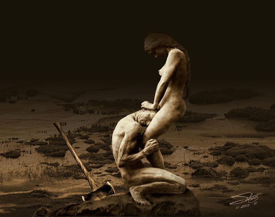 Forgiveness Digital Art - Bury the Axe by M Spadecaller