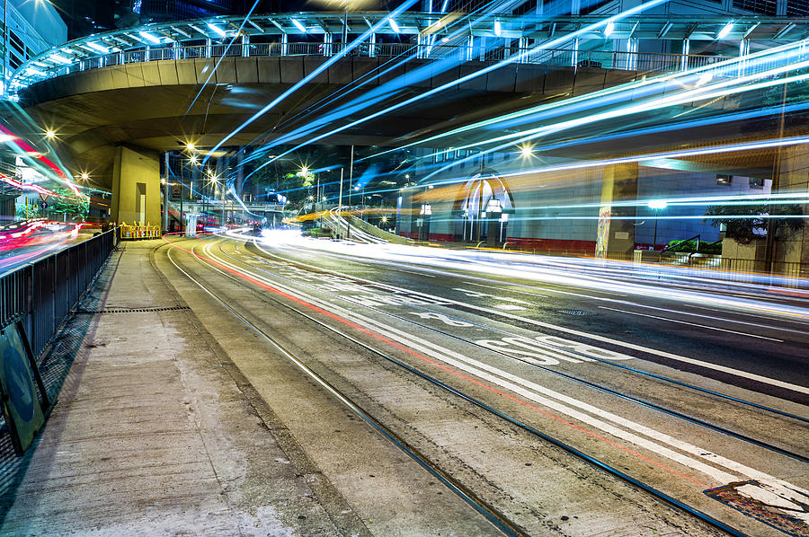 Bus And Tram Lane Photograph by Sean Savery Photography