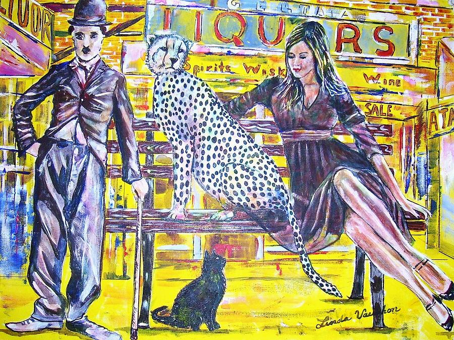 Bus Stop Painting by Linda Vaughon