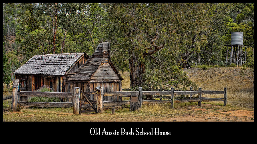 School House Photograph - Bush School House by Kim Andelkovic