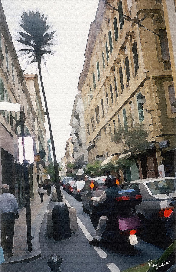 Digital Photograph - Busi Street by Piero Lucia