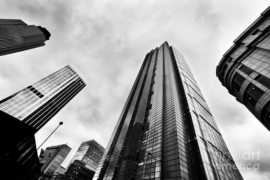 Skyscraper Photograph - Business Architecture Skyscrapers In London Uk by Michal Bednarek