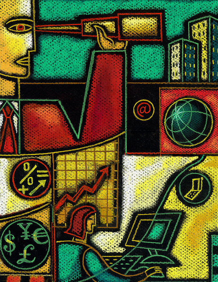 Business Painting by Leon Zernitsky