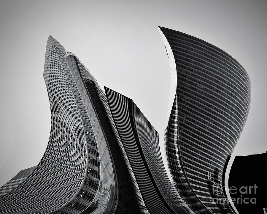Modern Photograph - Business Skyscrapers Abstract Conceptual Architecture by Michal Bednarek