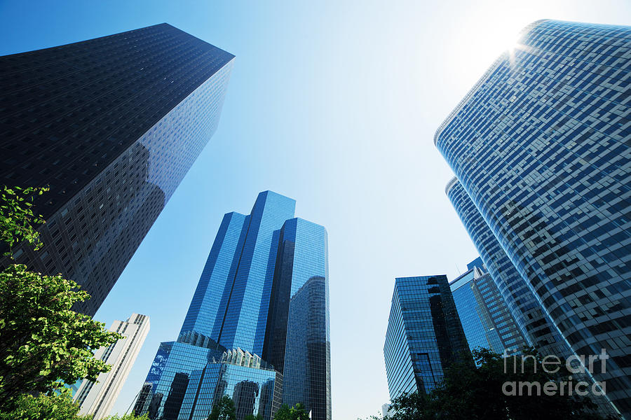 Skyscraper Photograph - Business Skyscrapers by Michal Bednarek