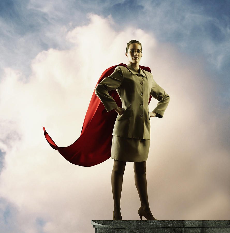 Businesswoman with cape Photograph by Colin Anderson