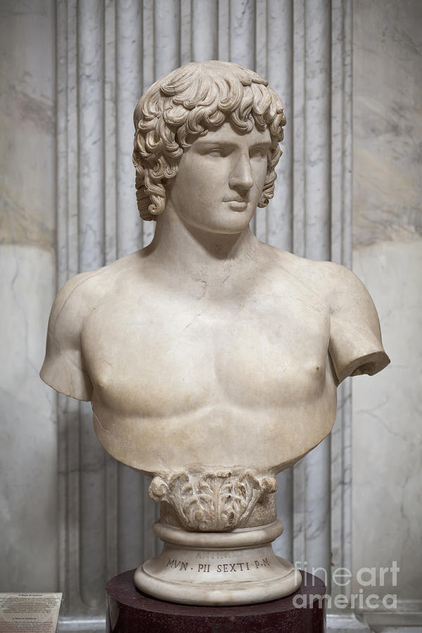 Italy Photograph - Bust Of Antinous by Roberto Morgenthaler