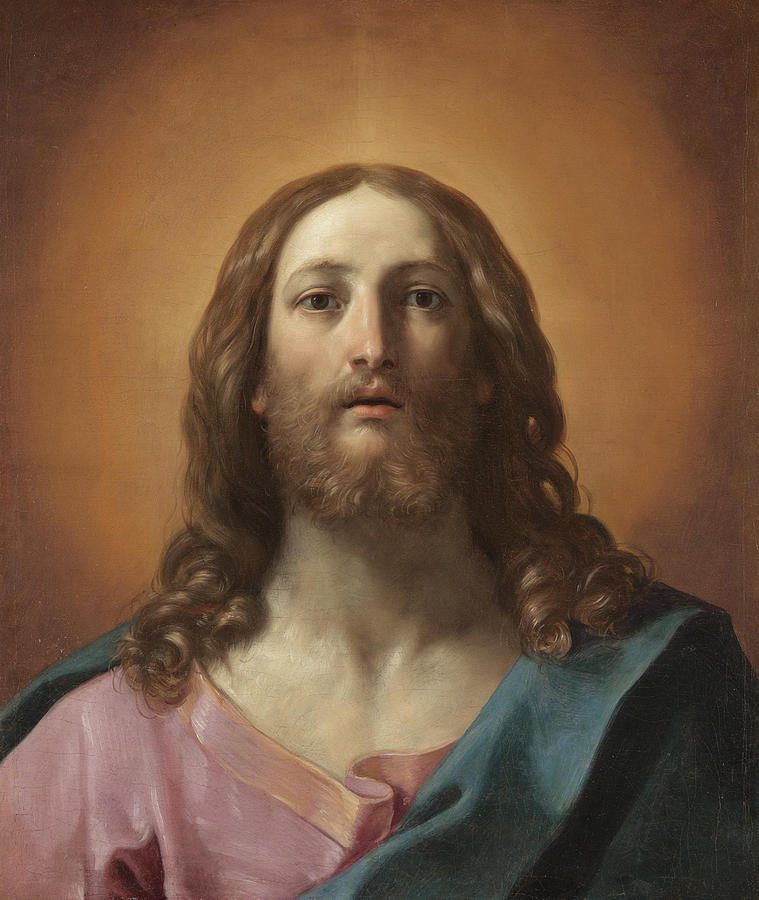 Bust Of Christ Painting By Guido Reni