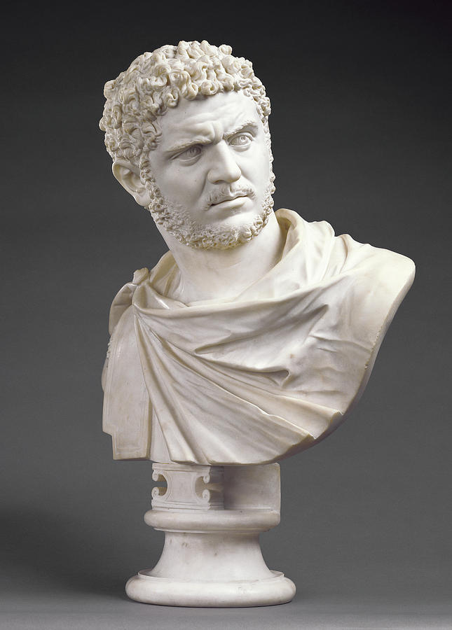 Bust Drawing - Bust Of Emperor Caracalla Born 188 by Litz Collection