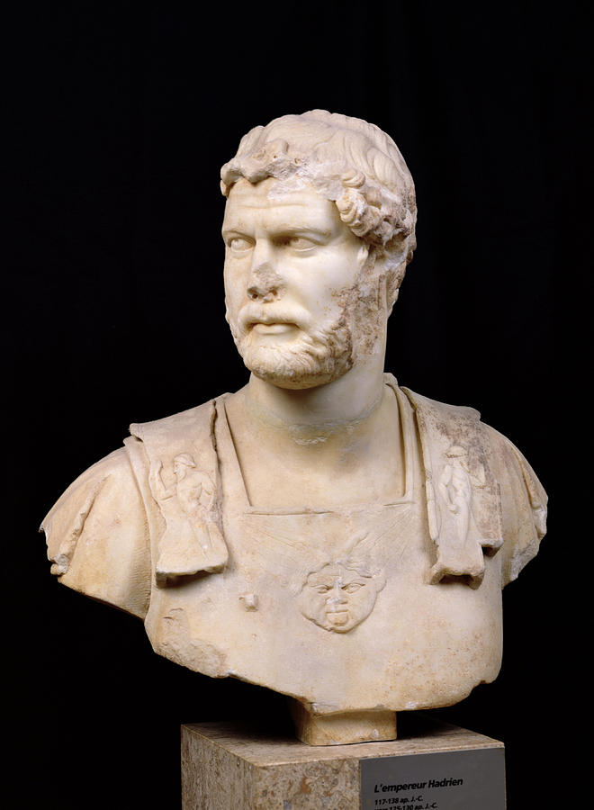 Buste De L'empereur Hadrien Sculpture - Bust Of Emperor Hadrian by Anonymous