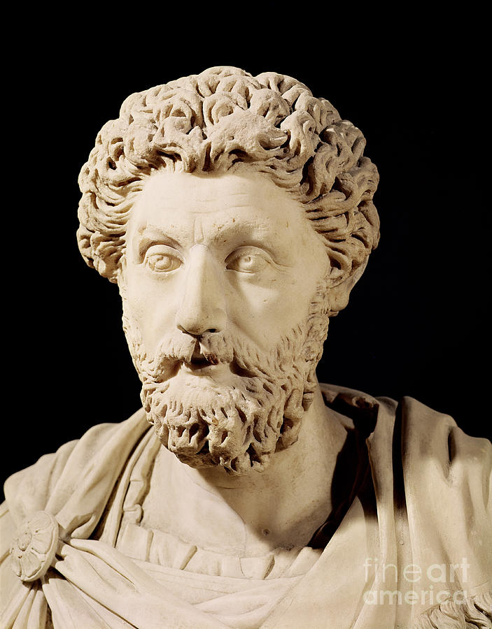 Roman Emperor Sculpture - Bust Of Marcus Aurelius by Anonymous