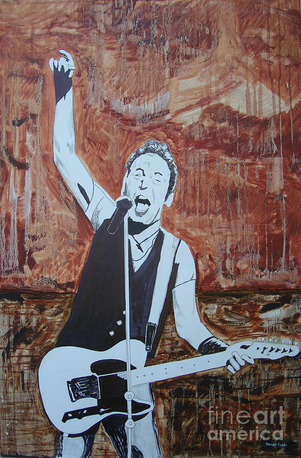 Bruce Springsteen Painting - Bust This City In Half by Stuart Engel