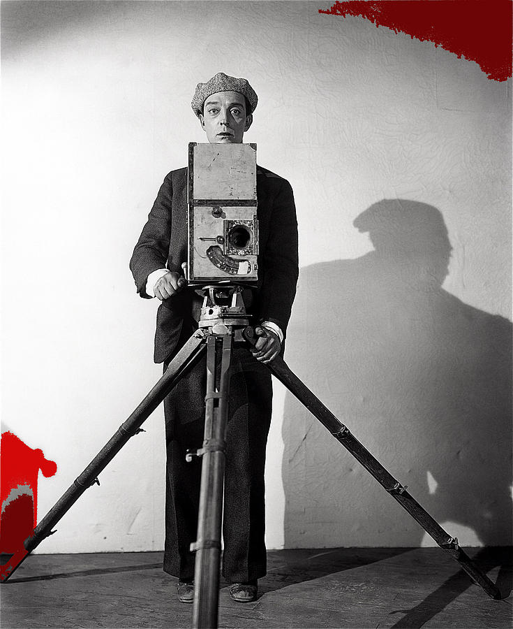 Buster Keaton As Tintype Photographer The Cameraman 1928-2008 Photograph by David Lee Guss