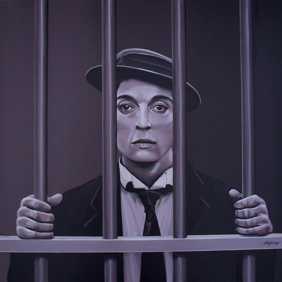 Buster Keaton Painting Painting By Paul Meijering
