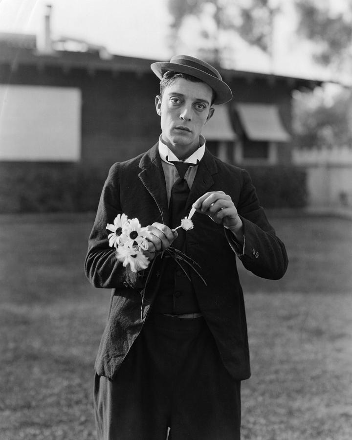 Movie Poster Photograph - Buster Keaton Portrait by Georgia Fowler