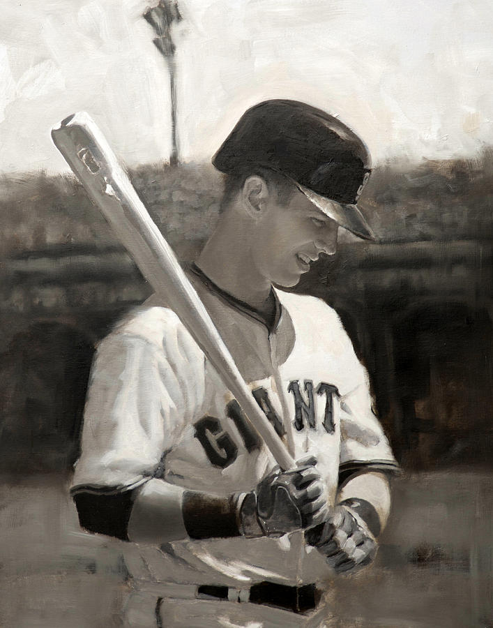 Buster Painting - Buster Posey - Quiet Leader by Darren Kerr