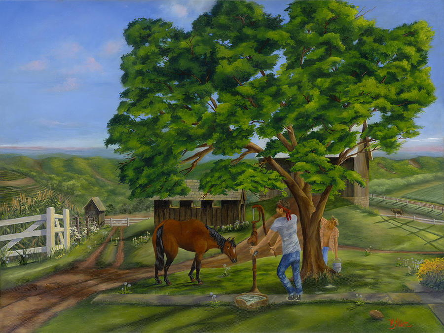 Landscapes Painting - Busters Retreat by William Allen