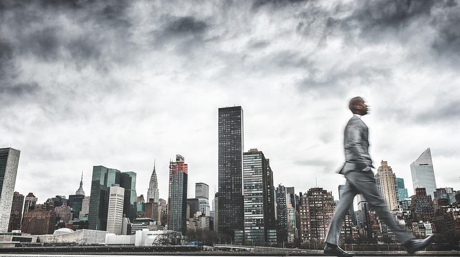 Busy Business Walking Fast On New York Photograph by Franckreporter