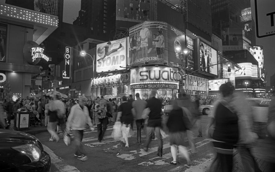 Nyc Photograph - Busy Time Frozen by Tony Santo