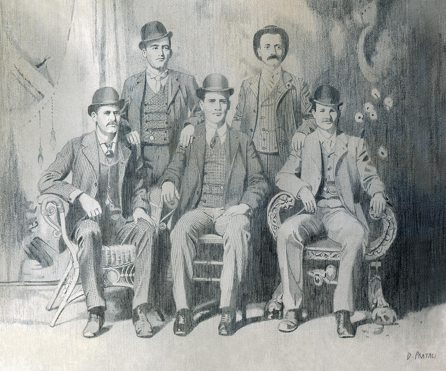 Pencil Drawing Drawing - The Wild Bunch by Dean Pratali
