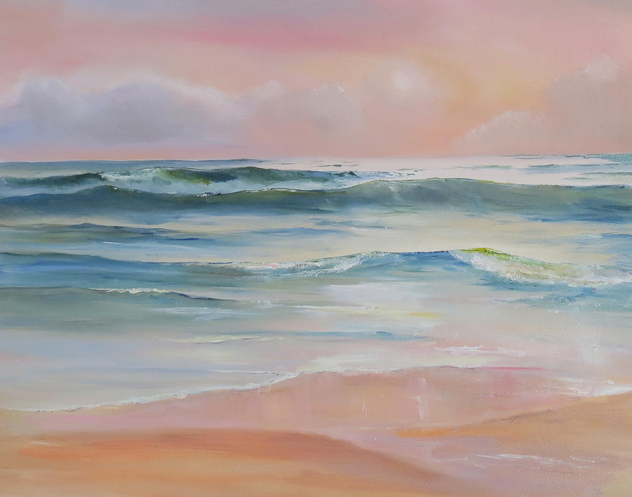 Beach Painting - Butler Beach Morning by Jim Christley
