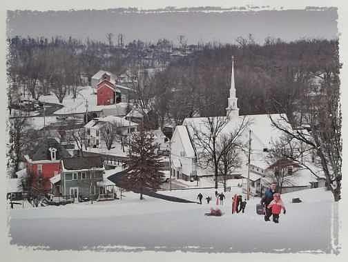 Butler Ohio Photograph - Butler In Winter by Dick Hollon