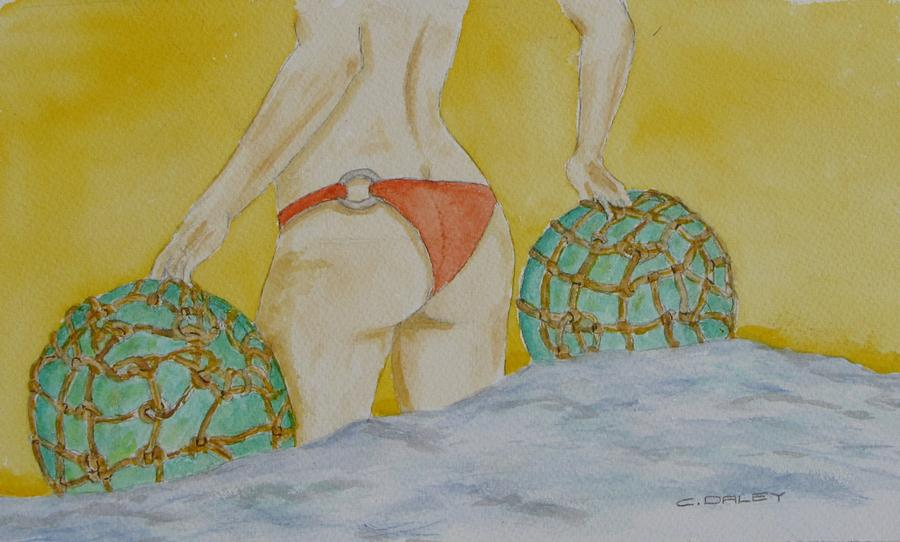 Butt And  Bouys Painting by Charles  Daley