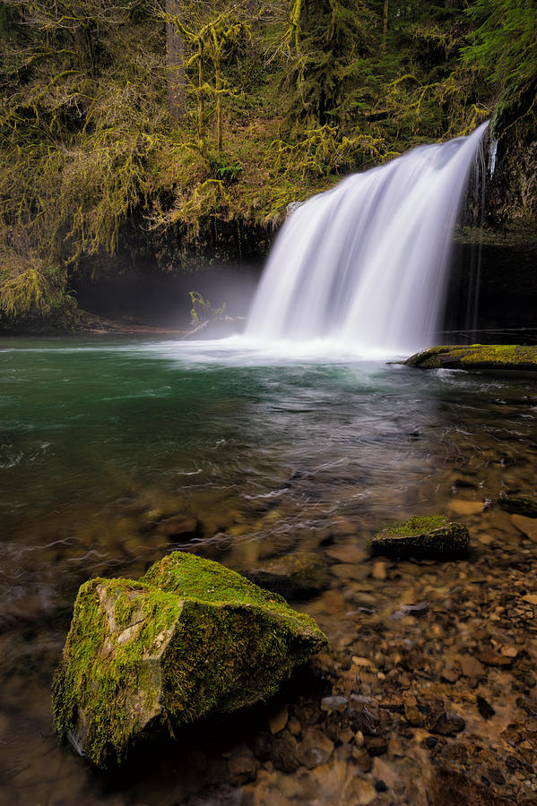 Butte Creek Falls Photograph - Butte Creek Falling by Brian Bonham