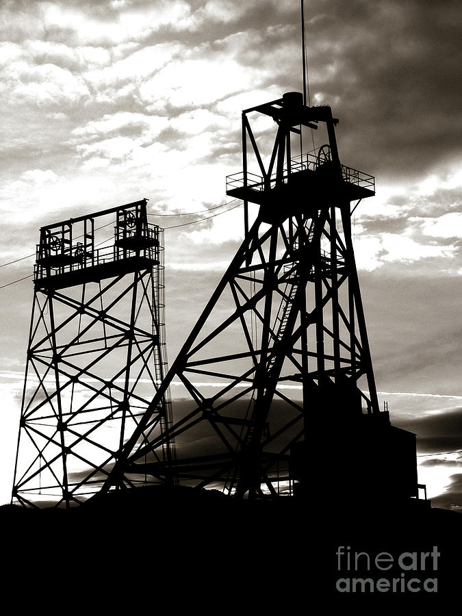 Headframe Photograph - Butte Montana Headframe by David Bearden