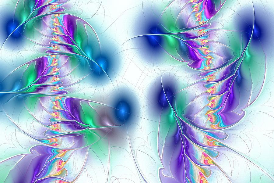 Malakhova Digital Art - Butterflies by Anastasiya Malakhova