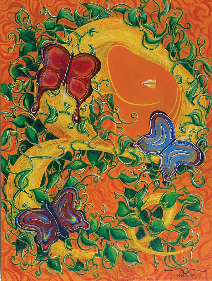 Butterflies Painting - Butterflies by Divinity MonSun Chan