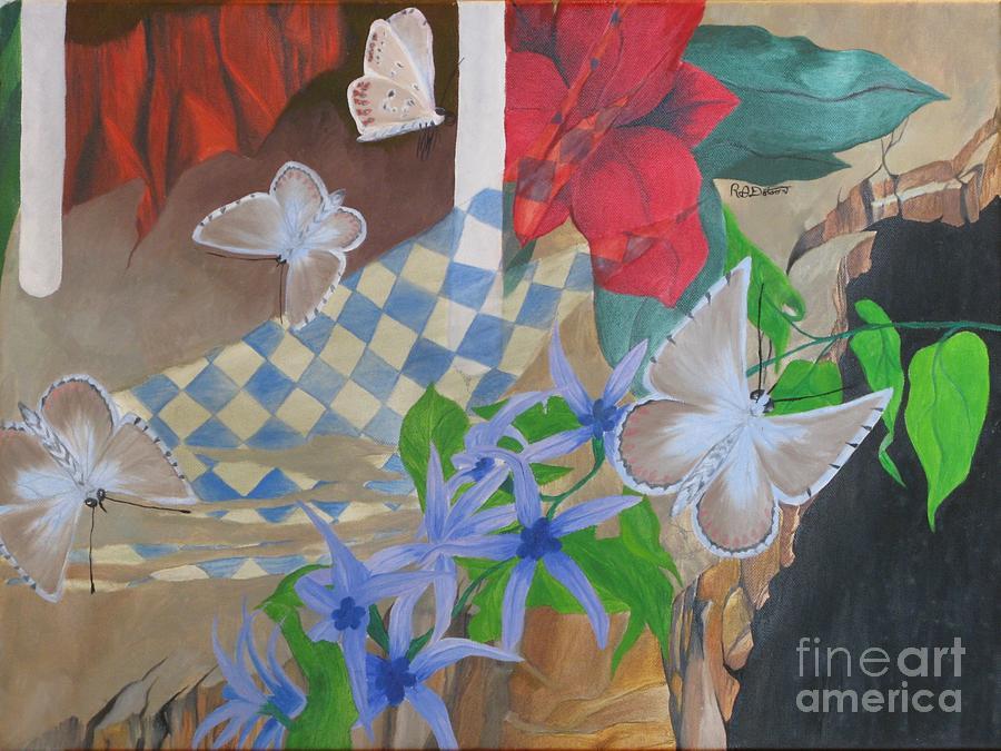 Landscape Painting - Butterflies In The Breeze by Richard Dotson