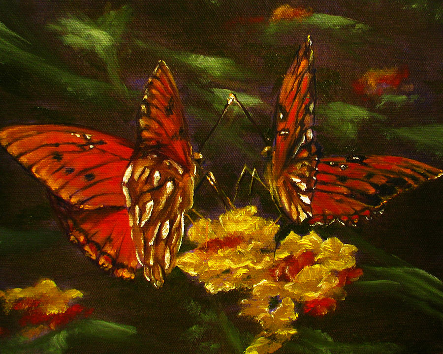 Butterfly Painting - Butterfly Amore by Sherry Robinson
