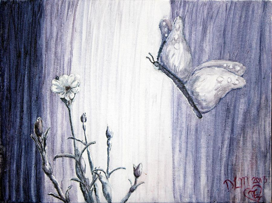 Butterfly Painting - Butterfly At The Veil by Dawna Morton