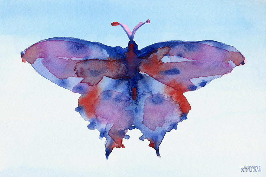 Blue Abstract Butterfly Paintings