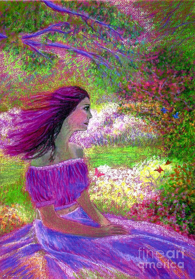 Purple Painting - Butterfly Breezes by Jane Small