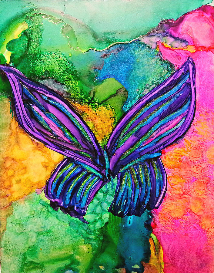 Landscape Painting - Butterfly Effect by Kelly Dallas