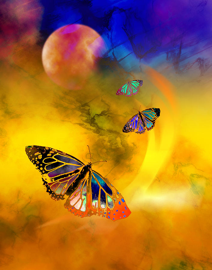 Butterfly Digital Art - Butterfly Expansion by Bruce Manaka